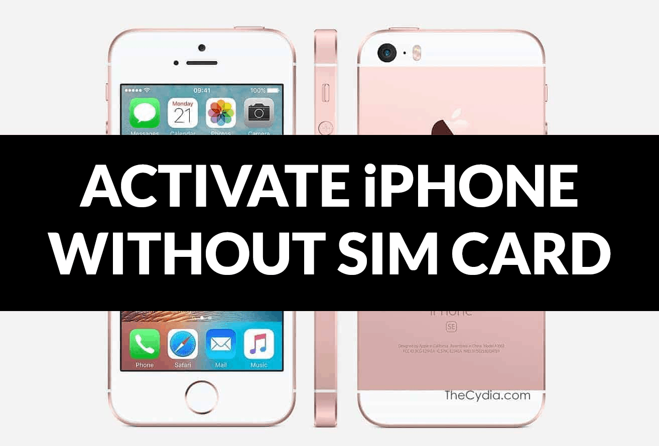 Activate iPhone without a SIM Card
