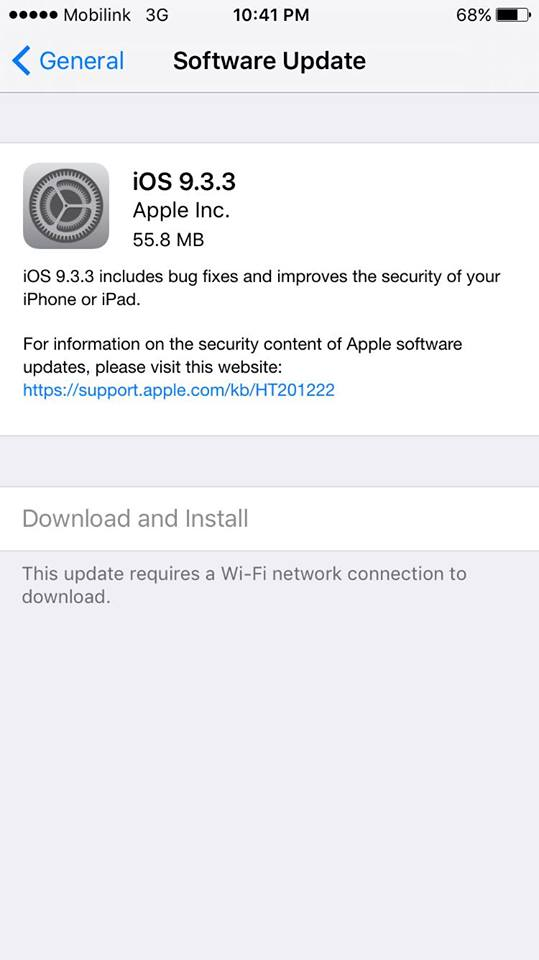 Download iOS 9.3.3 IPSW Firmware files for iPhone, iPad & iPod Touch