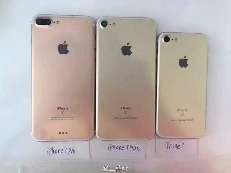 iPhone 7, iPhone 7 Plus and iPhone 7 Pro Leaked Online