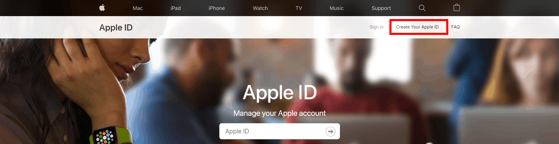 Create your Apple ID - Apple ID website