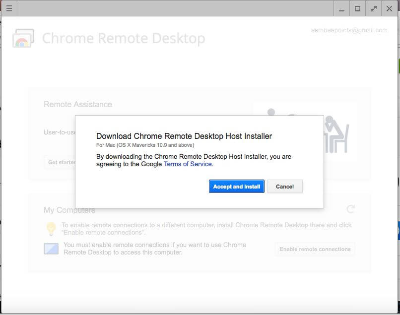 Download Chrome Remote Desktop Host Installer Mac and Windows