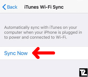 Manually Sync iPhone with iTunes over Wi-Fi