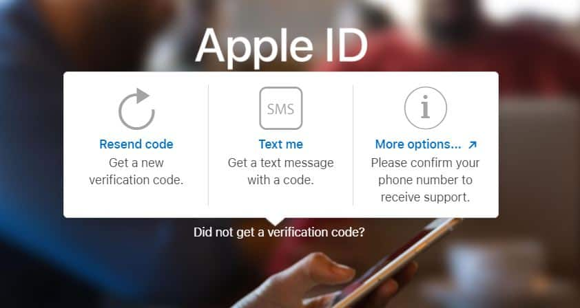 Apple ID Sign in Didn't get a verification code